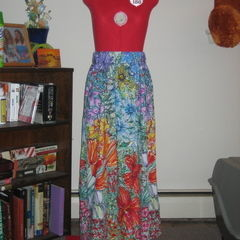 Elastic Waist Maxi Skirt