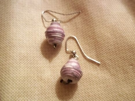 Recycle! .  Make a set of paper earrings in under 10 minutes by beading and jewelrymaking with beads. Inspired by clothes & accessories. Creation posted by Ashley P. Difficulty: Easy. Cost: Absolutley free.