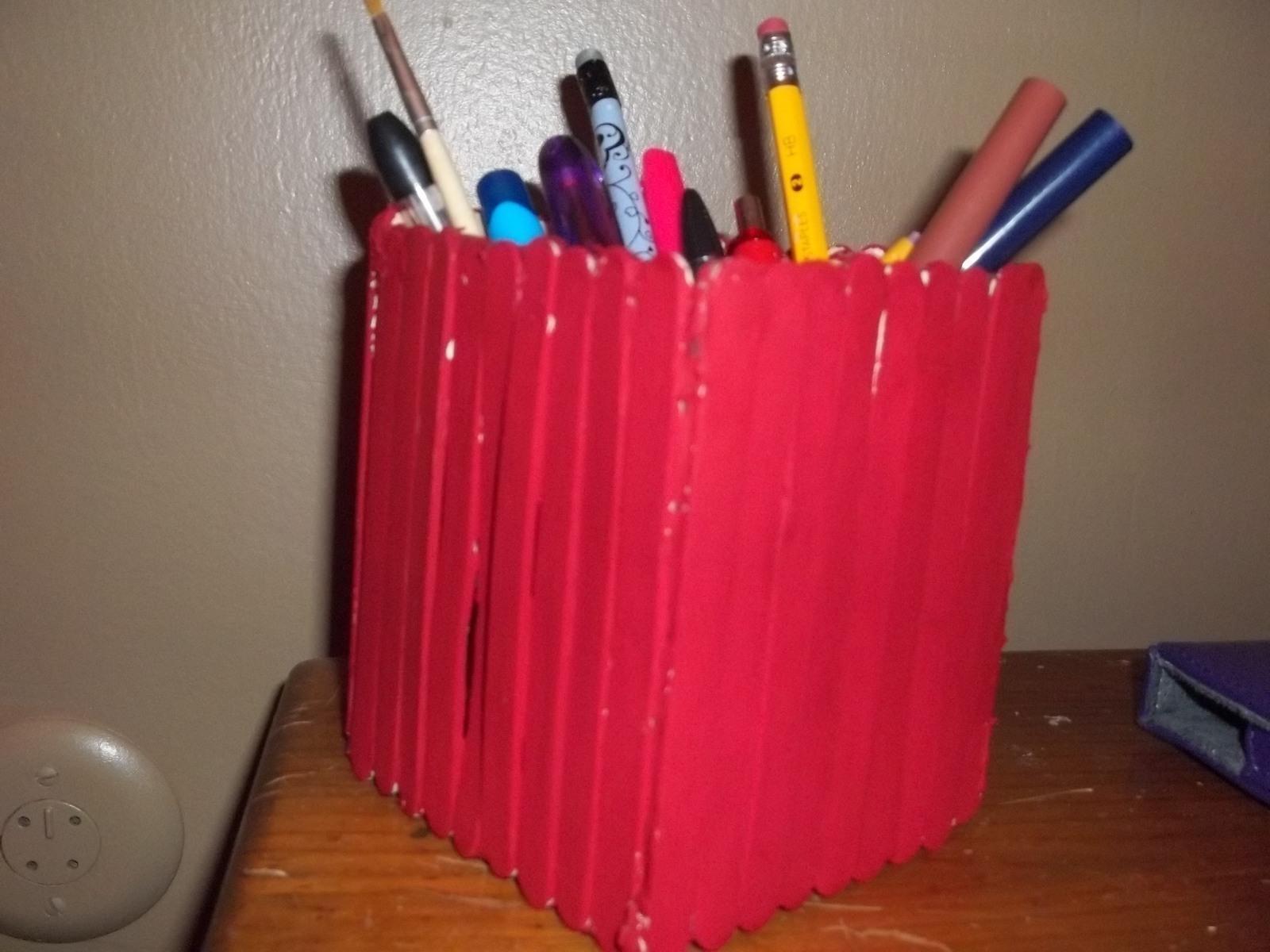 Popsicle Stick Diy Pen Holder A Popsicle Stick Box Papercraft
