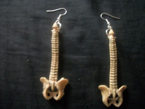 Wonderful! .  Free tutorial with pictures on how to make a pair of toy earrings in under 20 minutes by jewelrymaking with hot glue gun, jump rings, and earring hooks. Inspired by halloween and clothes & accessories. How To posted by Charity W. Difficulty: Easy. Cost: Absolutley free. Steps: 1