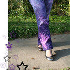 Dyed & Bleached Galaxy Print Jeans