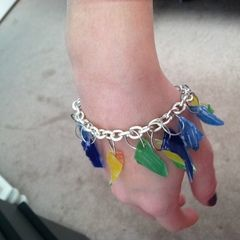 """Glass Shards"" Charm Bracelet"