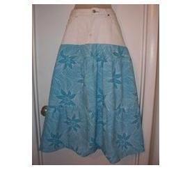 Half & Half Denim Maxi Skirt · How To Sew A Maxi Skirt ...