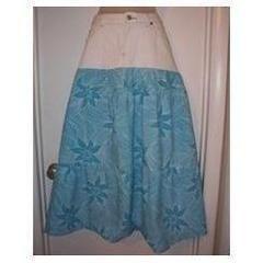 Half & Half Denim Maxi Skirt