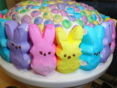 YAY EASTER!!! .  Decorate an animal cake in under 90 minutes by baking and cake decorating with frosting, m&m's, and cake pan. Inspired by rabbits and easter. Creation posted by Lani Azura. Difficulty: Easy. Cost: No cost.