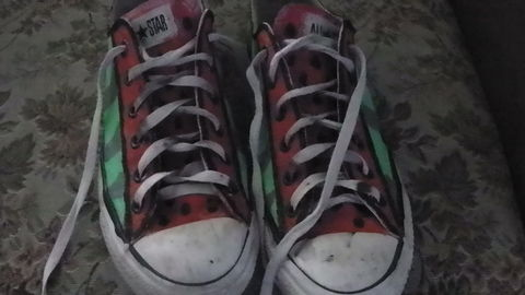 .  Paint a pair of painted shoes in under 60 minutes by decorating Inspired by converse and food. Version posted by Ashley Jane. Difficulty: Simple. Cost: Absolutley free.