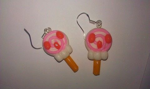 Inspired by tokidoki style :) .  Make a pair of clay earring in under 20 minutes by jewelrymaking and  with earring hooks, earring hooks, and modelling clay. Inspired by kawaii, food, and lollipops. Creation posted by Marakyo. Difficulty: Easy. Cost: Absolutley free.
