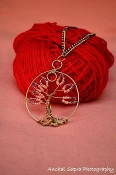 Tree Of Life~ symbol of unity life and love .  Make a wire pendant in under 30 minutes by wireworking with beads, wire, and chain. Creation posted by Bani Kaur. Difficulty: 3/5. Cost: Cheap.