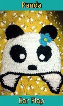Cute Little Panda .  Make an animal hat by crocheting with yarn, yarn, and crochet hook. Inspired by kawaii, pandas, and pandas. Creation posted by BobbieBomber. Difficulty: Easy. Cost: Cheap.
