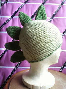 How to coming soon! .  Make a character hat in under 120 minutes by sewing and crocheting with crochet hook, yarn, and yarn. Inspired by halloween, dinosaurs, and costumes & cosplay. Creation posted by Justine :]. Difficulty: Simple. Cost: Cheap.