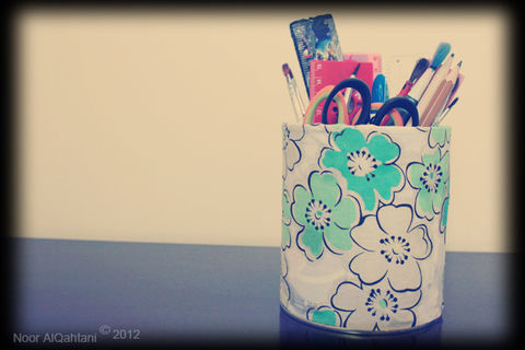 A great and easy craft to store your art supplies  .  Make a pot in under 15 minutes by not sewing with fabric, scissors, and paint brush. Creation posted by Noor . Difficulty: Easy. Cost: No cost.