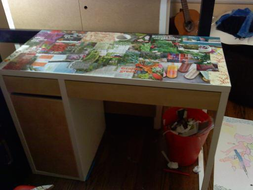Decoupage Desk 183 How To Make A Table 183 Decorating Resin And Decoupage On Cut Out Keep