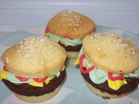 .  Decorate a food shaped cake in under 50 minutes by baking and cake decorating Inspired by cupcakes and burgers. Version posted by HollyIvyRose. Difficulty: Simple. Cost: Cheap.