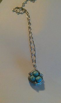 Super cute and very Easy to make! .  Make a wire necklace in under 10 minutes by jewelrymaking and wireworking with beads, wire, and wire cutters. Inspired by clothes & accessories, bird nests, and bird nests. Creation posted by Samsquantchable. Difficulty: Easy. Cost: Absolutley free.