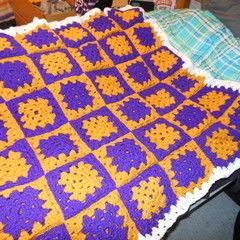 Crocheted School Spirit Blanket