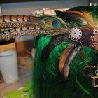 Steampunk Feather Hairpiece