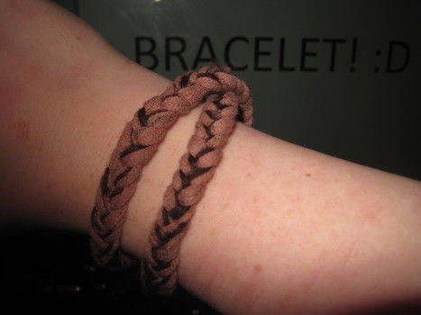 .  Make a braided fabric bracelet in under 10 minutes by jewelrymaking Version posted by Kurlyy. Difficulty: Easy. Cost: Absolutley free.