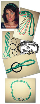 Rubber band + necklace = awesome for your head!  .  Free tutorial with pictures on how to make a recycled headband in under 5 minutes by hairstyling and jewelrymaking with ribbon, hair band, and necklace. Inspired by clothes & accessories. How To posted by kendralaw.  in the Jewelry section Difficulty: Easy. Cost: No cost. Steps: 4