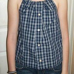 Men's Button Up Shirt To Women's Halter Top