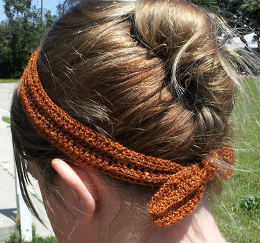A headband to keep your awkward length bangs out of your face when meeting minor celebrities. .  Free tutorial with pictures on how to braid a headband in under 30 minutes by hairstyling and crocheting with yarn, crochet hook, and yarn needle. Inspired by vintage & retro and clothes & accessories. How To posted by Jaime  M.  in the Jewelry section Difficulty: Simple. Cost: Cheap. Steps: 3