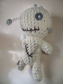 .  Make a food plushie by needleworking and crocheting Inspired by domo kun, domo kun, and domo kun. Version posted by Anni. Difficulty: 3/5. Cost: Cheap.