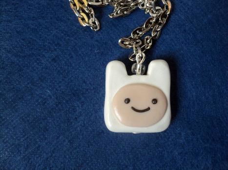 What time is it? .  Sculpt a clay character necklace in under 40 minutes using polymer clay. Inspired by adventure time. Creation posted by Haruka xz. Difficulty: Simple. Cost: 3/5.