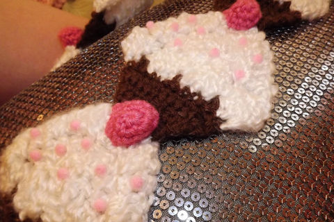 Yummy <3 .  Make a novelty scarf by yarncrafting and crocheting with yarn and crochet hook. Inspired by twinkie chan and clothes & accessories. Creation posted by Michelle. Difficulty: Simple. Cost: Absolutley free.