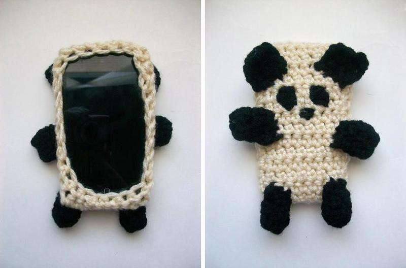 Panda Bear I Phone Case Cozy 183 A Knit Or Crochet Pouch