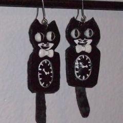 Kit Kat Clock Earrings