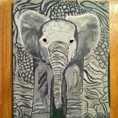 Baby Elephant Painting!