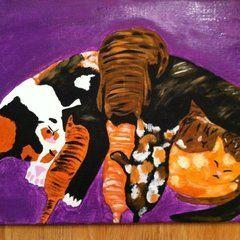 Mama Kitty Painting