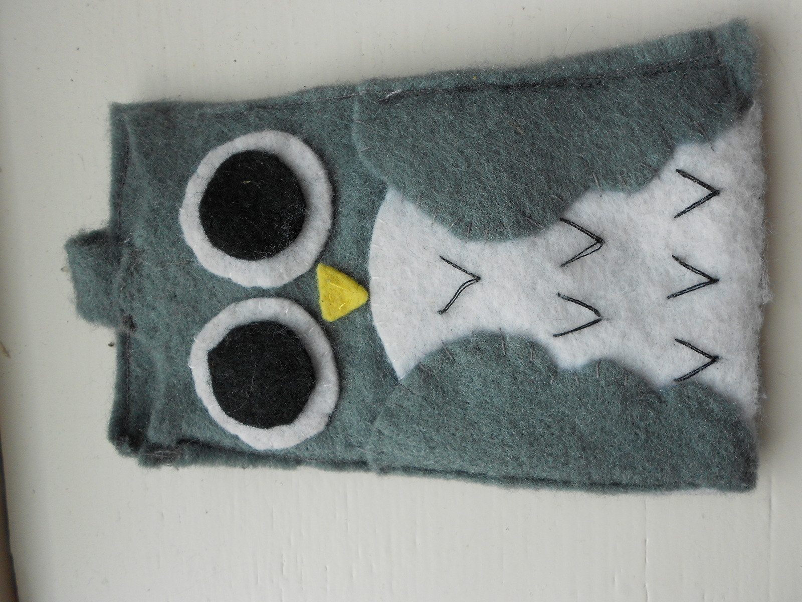 Owl Mobile Phone Case 183 A Fabric Animal Pouch 183 Sewing On