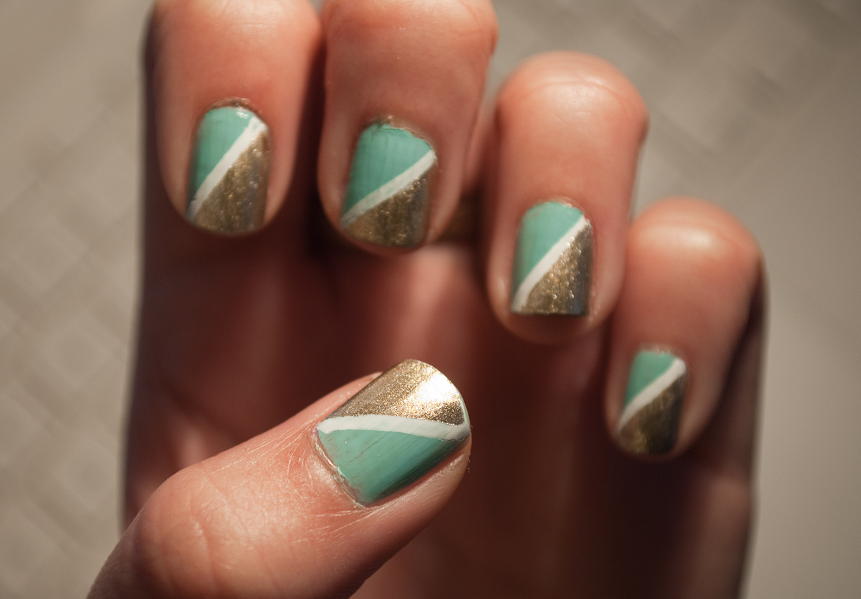 Half Triangle Nails · Patterned Nail Art · Nail Painting ...