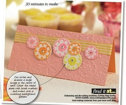 Add eye-catching textures to cards using Corinne Bradd's guide. .  Free tutorial with pictures on how to emboss an embossed card in under 20 minutes by papercrafting and cardmaking with cardstock, adhesive, and sand paper. How To posted by Crafts Beautiful. Difficulty: Easy. Cost: 3/5. Steps: 6