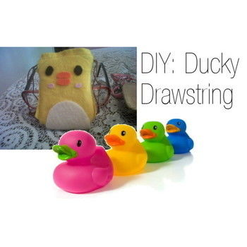 Quack Quack .  Free tutorial with pictures on how to sew a fabric animal pouch in under 30 minutes by creating, needleworking, embroidering, and sewing with felt, fabric glue, and sewing equipment. Inspired by vintage & retro, kawaii, and ducks. How To posted by Danielle. Difficulty: Easy. Cost: No cost. Steps: 11