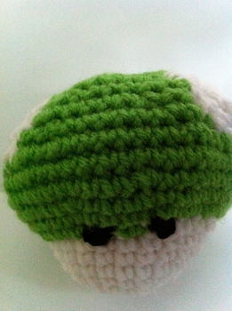 Power up! .  Free tutorial with pictures on how to sew a computer game plushie in under 60 minutes by yarncrafting, crocheting, and amigurumi with yarn and crochet hook. Inspired by super mario. How To posted by Miss.Jackie.Ann. Difficulty: Easy. Cost: Cheap. Steps: 16