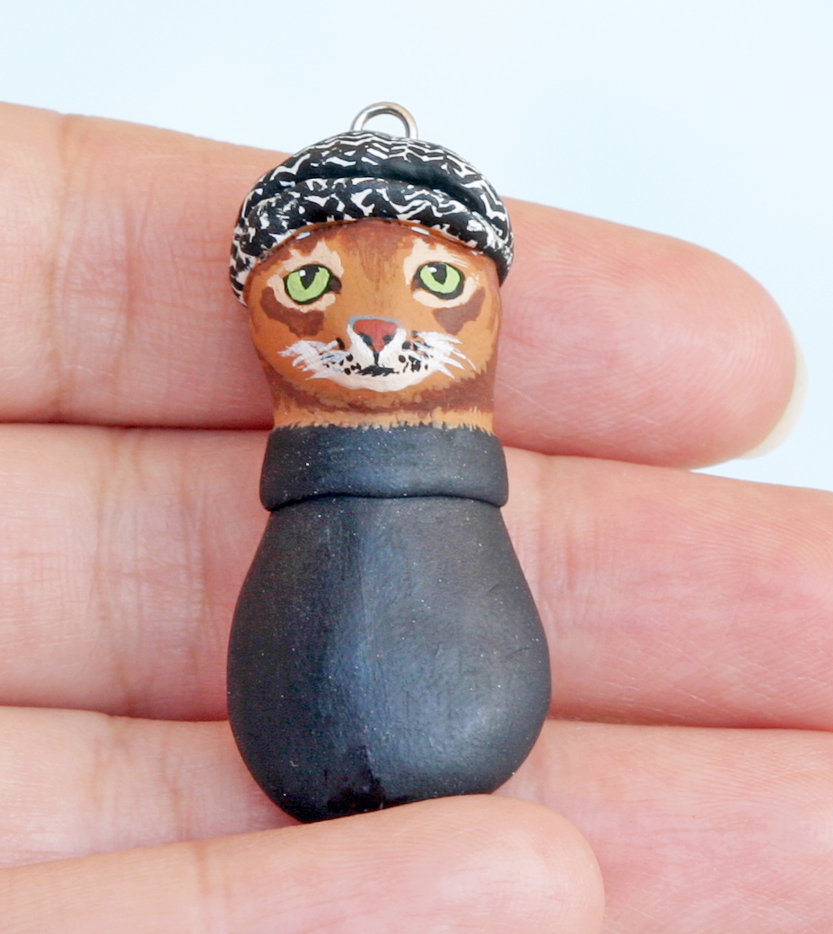 Kitty Charm Necklace · A Clay Animal Necklace · Art And