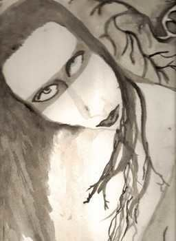 Marilyn Manson, Painting .  Paint a piece of watercolor art in under 60 minutes by decorating with watercolor paint. Inspired by gothic and marilyn manson. Creation posted by Dana B. Difficulty: Easy. Cost: Absolutley free.