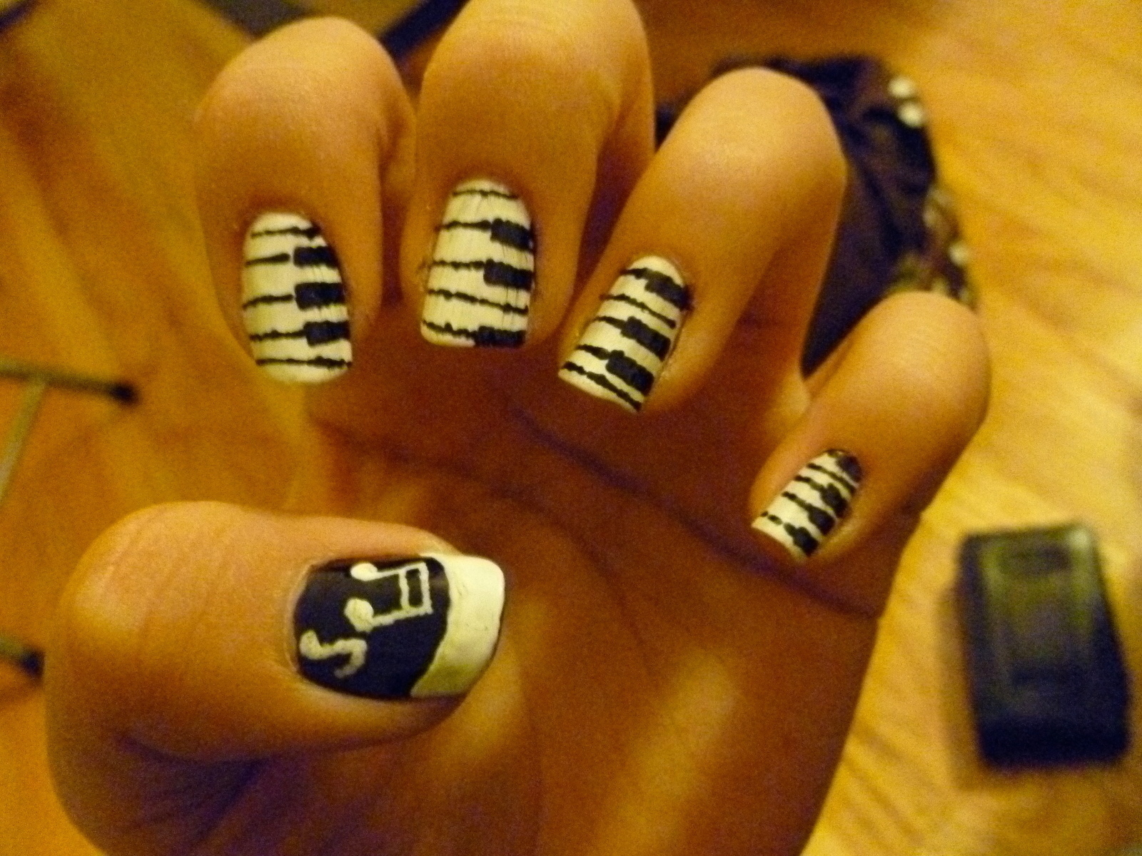 Piano And Music Nails A Themed Nail Manicure Nail Painting On