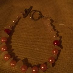 Pink Pearl, White Rock Bracelet