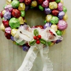Wreath Made Using Newspaper