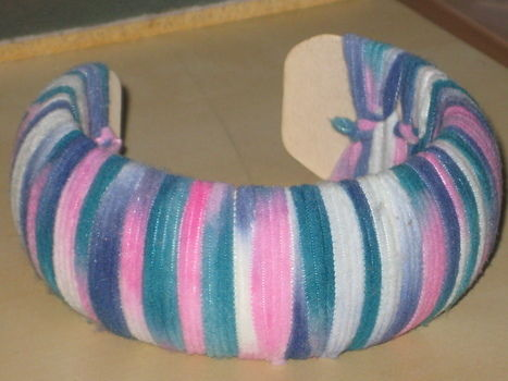 .  Make a wrapped bangle in under 60 minutes by yarncrafting Version posted by Rossane K. Difficulty: Easy. Cost: Cheap.
