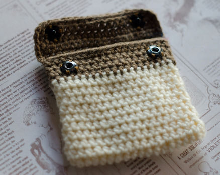 I am addicted to instagram, who isn't? .  Stitch a knit or crochet pouch in under 150 minutes by sewing, yarncrafting, and crocheting with crochet hook and needle & thread. Inspired by crafts, kawaii, and clothes & accessories. Creation posted by . Difficulty: 3/5. Cost: Cheap.
