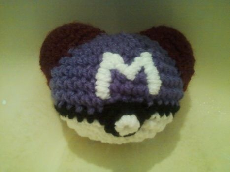 Gotta Catch 'Em All .  Make a ball plushie by embroidering, yarncrafting, crocheting, and amigurumi with tapestry needle, polyfill, and acrylic yarn. Inspired by pokemon, pokemon, and costumes & cosplay. Creation posted by A Z. Difficulty: 3/5. Cost: Cheap.