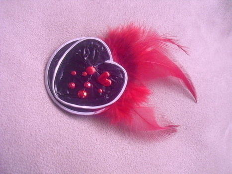 Make your fashion brooch .  Recycle a Nespresso brooch in under 10 minutes using felt, hot glue gun, and feather. Inspired by hearts and clothes & accessories. Creation posted by Sílvia. Difficulty: Easy. Cost: Cheap.