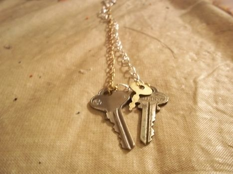 Keys to life! .  Make a key pendant in under 20 minutes by jewelrymaking with chain and key. Inspired by clothes & accessories. Creation posted by Ashley P. Difficulty: Easy. Cost: Absolutley free.