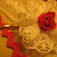 Lovely Rose And Lace Hairpin