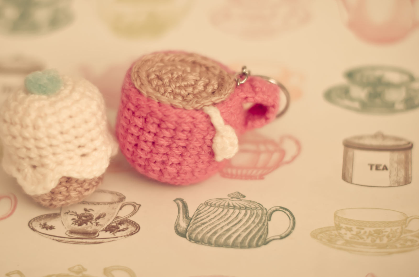 Crochet Tea & Cupcake Keyrings · A Knit Or Crochet Keyring ...