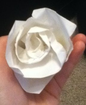May she rest in peace.. .  Fold an origami rose in under 30 minutes by paper folding and paper folding with scissors, paper, and masking tape. Inspired by anime & manga, costumes & cosplay, and clothes & accessories. Creation posted by Kinhime Dragon. Difficulty: 5/5. Cost: No cost.