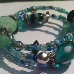 Turquoise Etc Memory Wire Bracelet